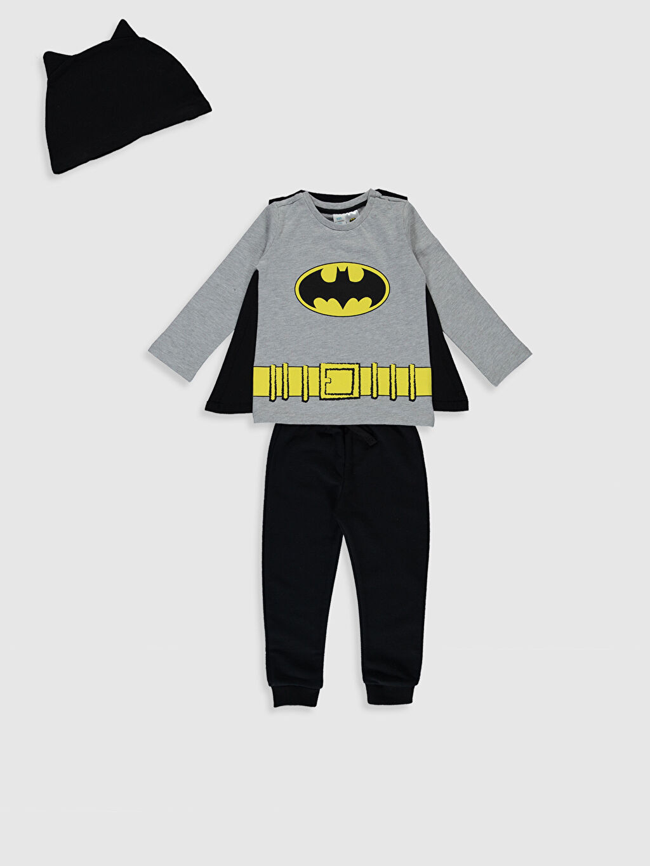 Antrasit Erkek Bebek Batman Baskılı Takım 4'lü 9WY502Z1 LC Waikiki