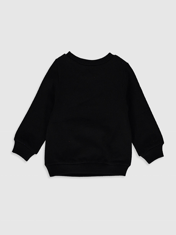%100 Pamuk %100 Pamuk Kalın Sweatshirt Kumaşı Aksesuarsız Sweatshirt Standart Kapüşonsuz Bisiklet Yaka Düz Kız Bebek Baskılı Sweatshirt