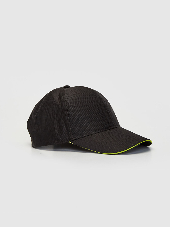 Siyah Logo Detaylı Tenis Şapkası 0S0100Z8 LC Waikiki