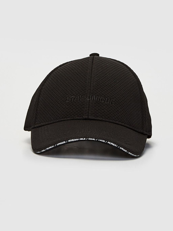 %99 Polyester %1 Elastan Kep Baskılı Spor Pike Şapka Yazı Nakışlı Şapka
