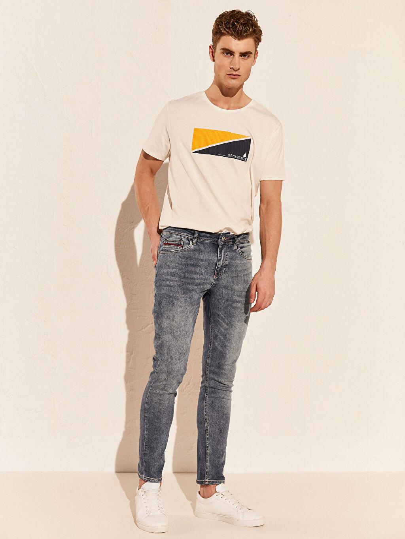 %84 Pamuk %14 Polyester %2 Elastan Orta Kalınlık Ekstra Dar Normal Bel Beş Cep Jean 760 Skinny Fit Jean Pantolon