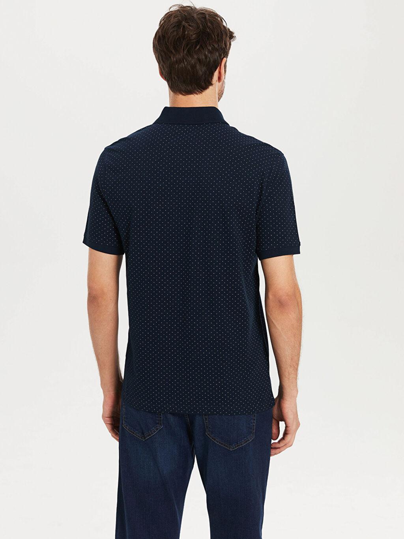 Erkek Polo Yaka Puantiyeli Tişört
