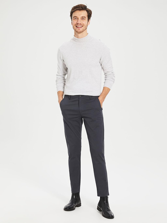 Antrasit Slim Fit Gabardin Chino Pantolon 0S1740Z8 LC Waikiki