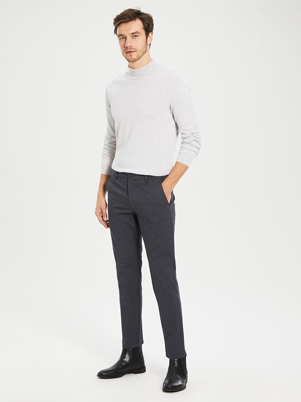 Erkek Slim Fit Gabardin Chino Pantolon