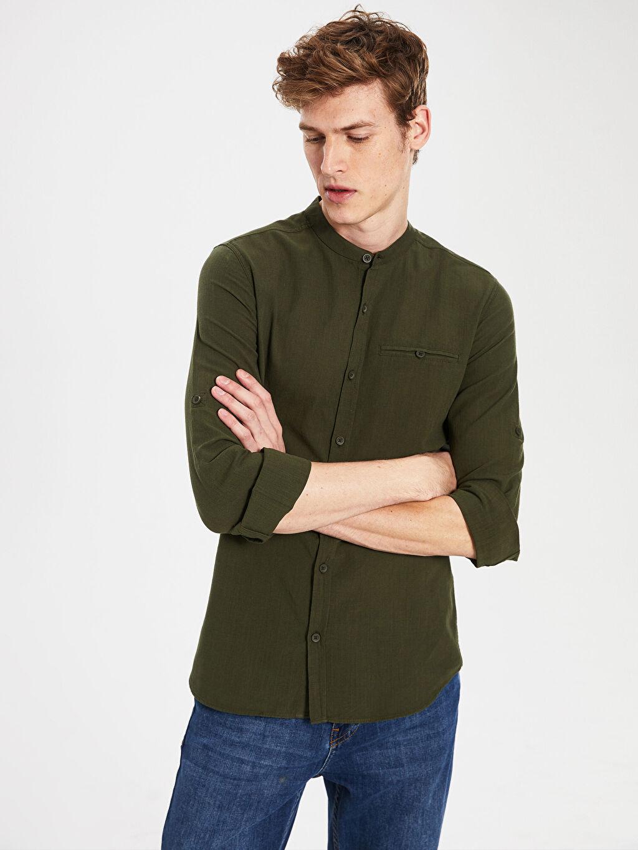 Erkek Ekstra Slim Fit Pamuklu Gömlek
