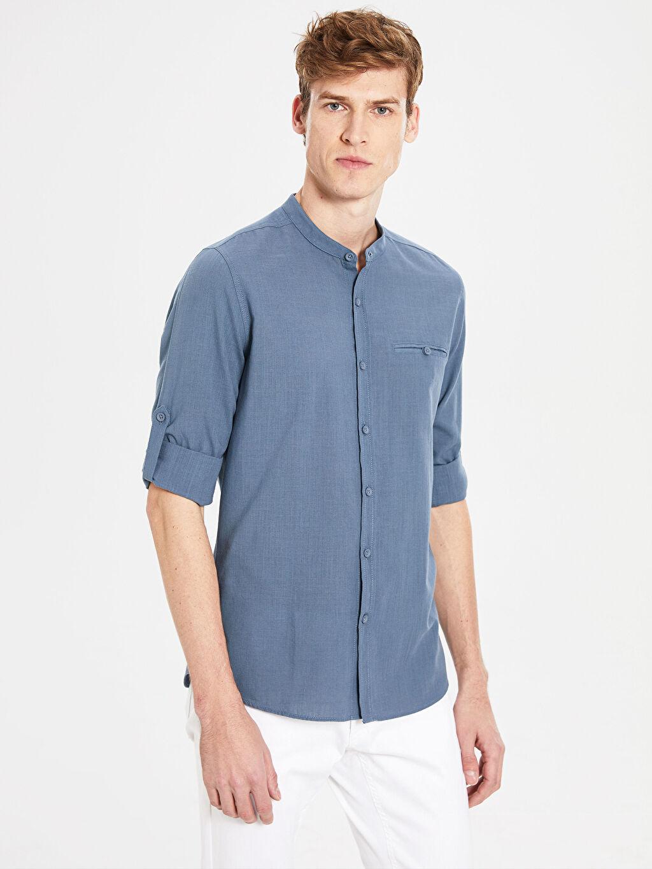 Mavi Ekstra Slim Fit Pamuklu Gömlek 0S1770Z8 LC Waikiki