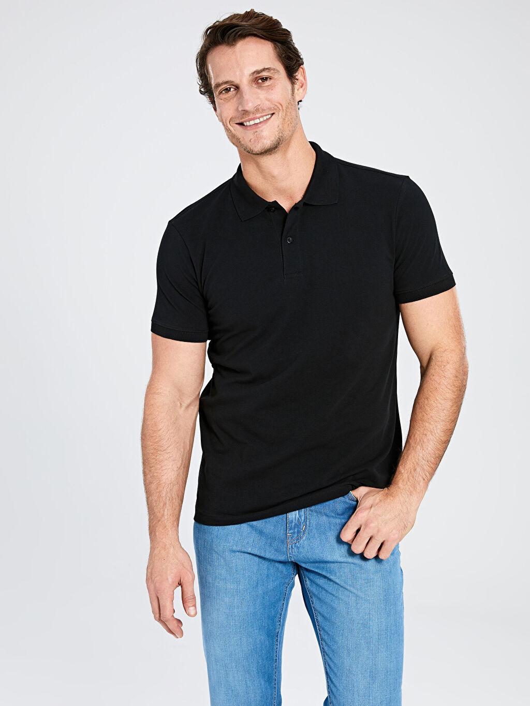 %100 Pamuk İnce %100 Pamuk Standart Tişört Pike Polo Yaka Kısa Kol Düz Polo Yaka Kısa Kollu Basic Pike Tişört