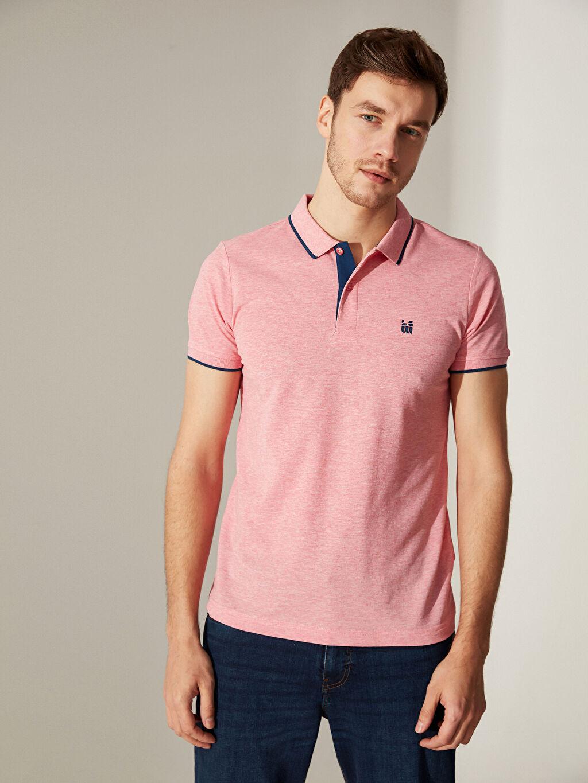 %45 Pamuk %55 Polyester Düz Standart İnce Kısa Kol Tişört Polo Yaka Pike Polo Yaka Basic Kısa Kollu Pike Tişört
