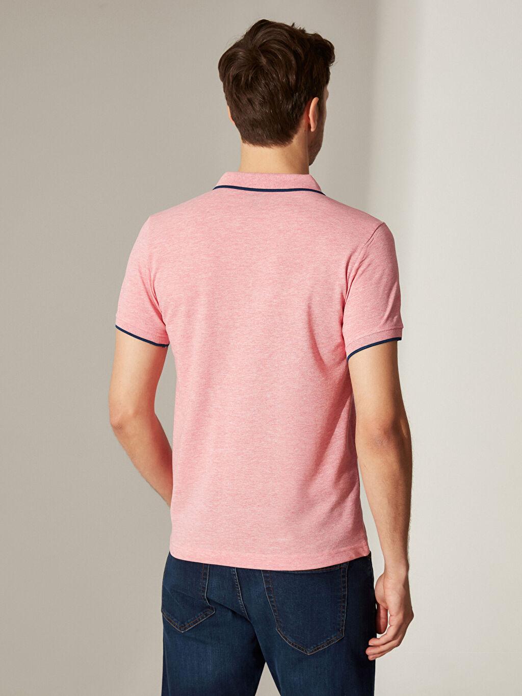 %45 Pamuk %55 Polyester Polo Yaka Basic Kısa Kollu Pike Tişört