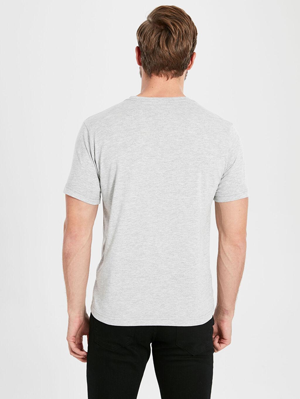 %49 Pamuk %51 Polyester Bisiklet Yaka Basic Penye Tişört