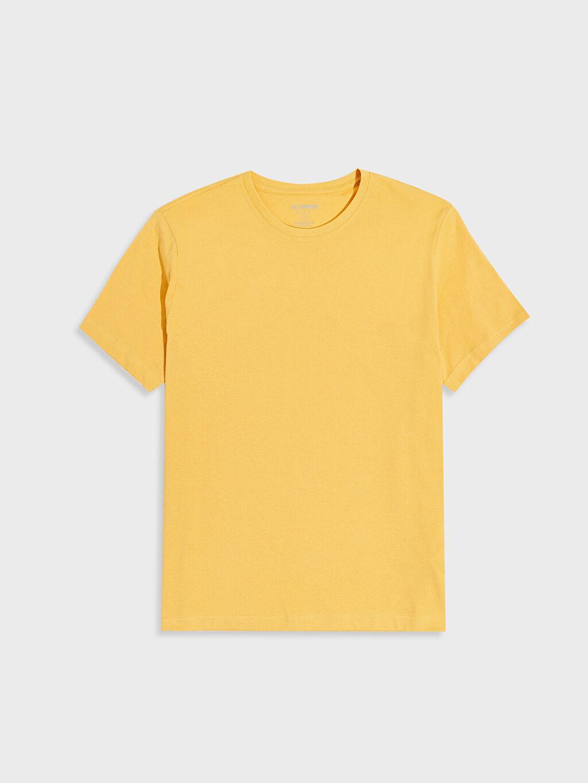 Sarı Bisiklet Yaka Basic Penye Tişört 0S1780Z8 LC Waikiki