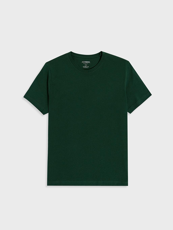 Yeşil Bisiklet Yaka Basic Penye Tişört 0S1780Z8 LC Waikiki