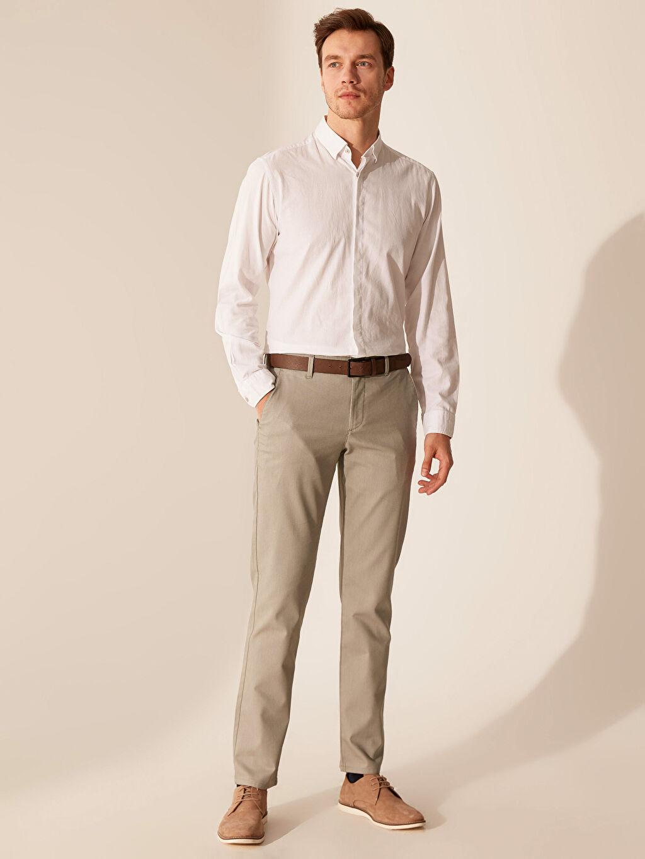 Haki Slim Fit Chino Pantolon 0S1989Z8 LC Waikiki