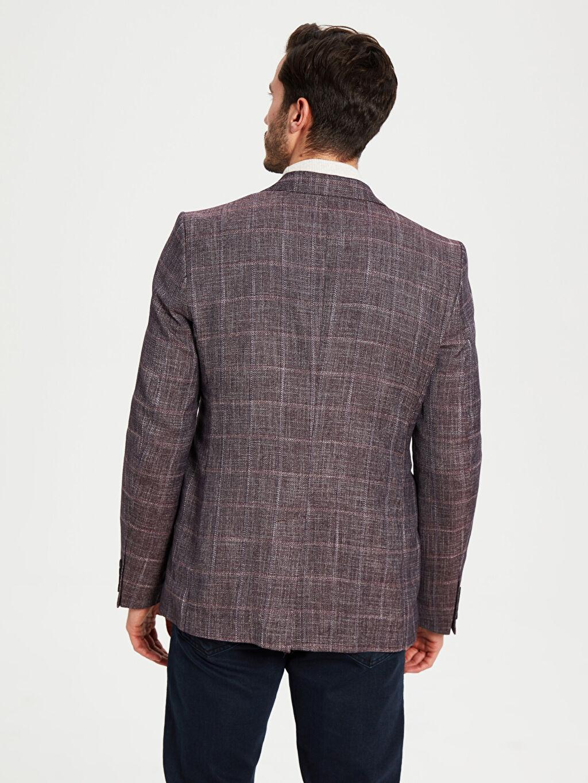 %58 Polyester %42 Viskoz Blazer Ceket