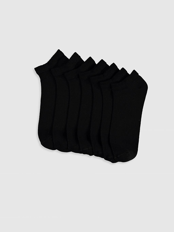 Siyah Patik Çorap 7'Li 0S2763Z8 LC Waikiki