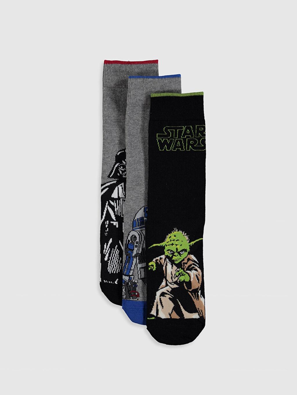 Çok Renkli Star Wars Baskılı Soket Çorap 3'lü 0S2807Z8 LC Waikiki