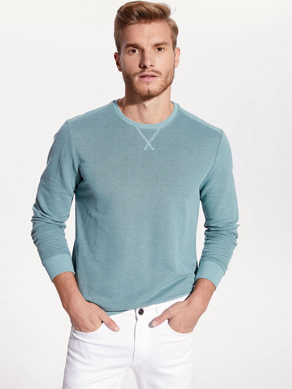 %83 Pamuk %17 Polyester Sweatshirt Bisiklet Yaka Uzun Kol Yüksek Pamuk İçerir Sweatshirt Kumaşı Bisiklet Yaka Basic Sweatshirt