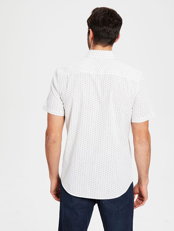 Erkek Regular Fit Desenli Kısa Kollu Gömlek