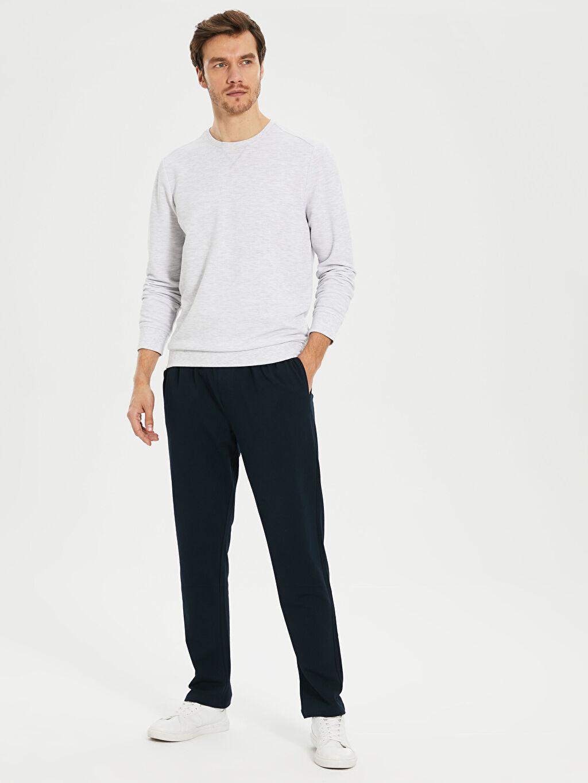 %98 Pamuk %2 Elastan Orta Kalınlık Standart İnce Sweatshirt Kumaşı Eşofman Altı Standart Kalıp Eşofman Altı