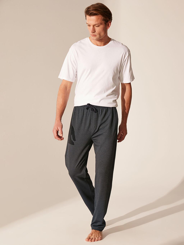 %79 Pamuk %21 Polyester Orta Kalınlık Düz Standart Pijama Alt Standart Kalıp Pijama Altı