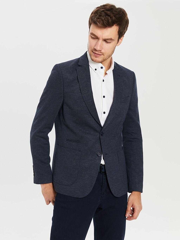 %72 Polyester %28 Viskon %100 Polyester Uzun Kol Orta Kalınlık Blazer Ceket Astarlı Dar Düz Blazer Ceket