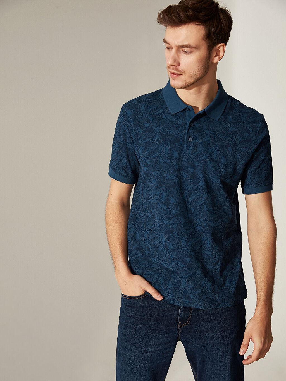 %100 Pamuk İnce %100 Pamuk Standart Baskılı Tişört Polo Yaka Kısa Kol Polo Yaka Desenli Tişört