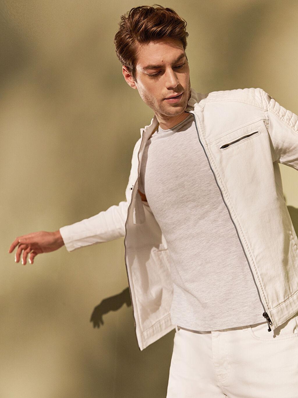 %98 Pamuk %2 Elastan Jean Ceket Astarsız Orta Kalınlık Uzun Kol Regular Fit Jean Ceket