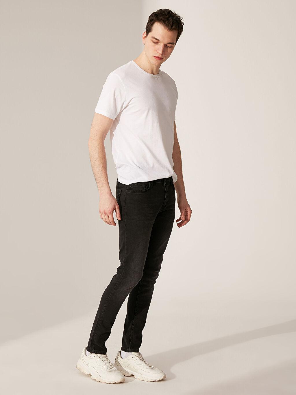 %99 Pamuk %1 Elastan Jean Ekstra Dar Normal Bel Beş Cep Orta Kalınlık 760 Skinny Fit Jean Pantolon