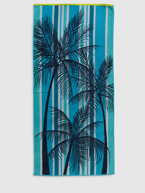 Mavi Pamuklu Plaj Havlusu 0S6383Z8 LC Waikiki