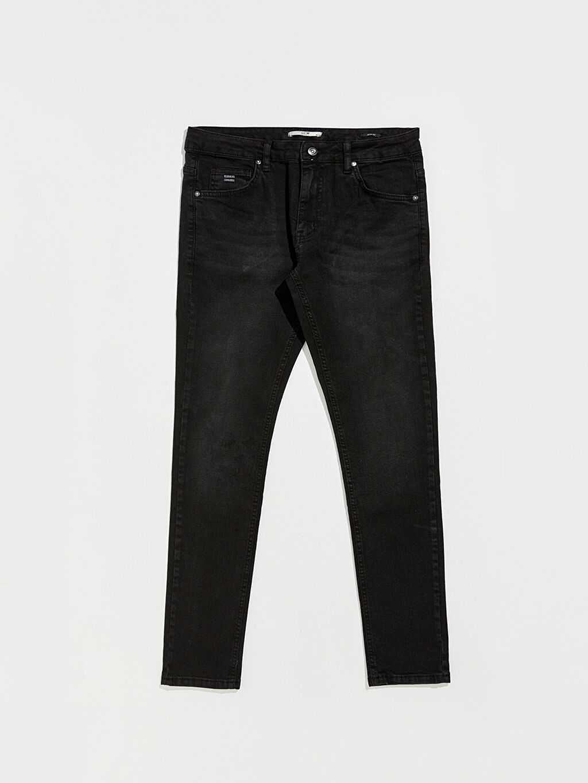 %98 Pamuk %2 Elastan Normal Bel Dar Jean Kalın 750 Slim Fit Jean Pantolon