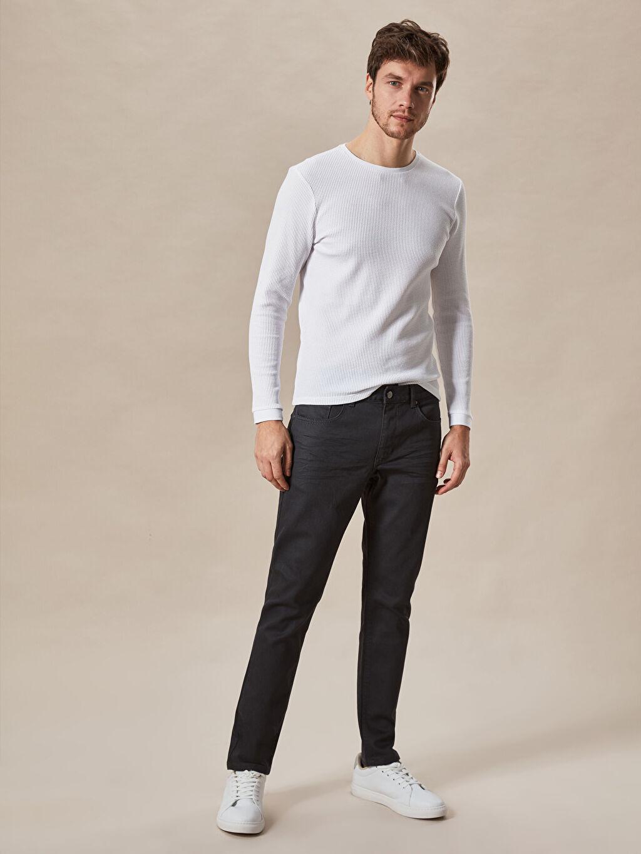 %87.30 Pamuk %11.30 Poliester %1.40 Elastan Normal Bel Dar Jean 757 Slim Fit Jean Pantolon