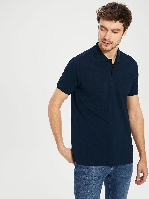 %100 Pamuk Düz Standart İnce Kısa Kol Tişört Polo Yaka Pike Yüksek Pamuk İçerir Polo Yaka Basic Pike Tişört