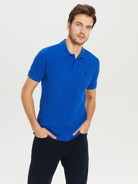 %100 Pamuk Polo Yaka Kısa Kol Düz Standart Tişört Pike %100 Pamuk İnce Polo Yaka Basic Pike Tişört