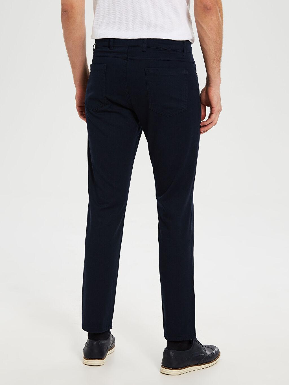 %98 Pamuk %2 Elastan Slim Fit Armürlü Pantolon