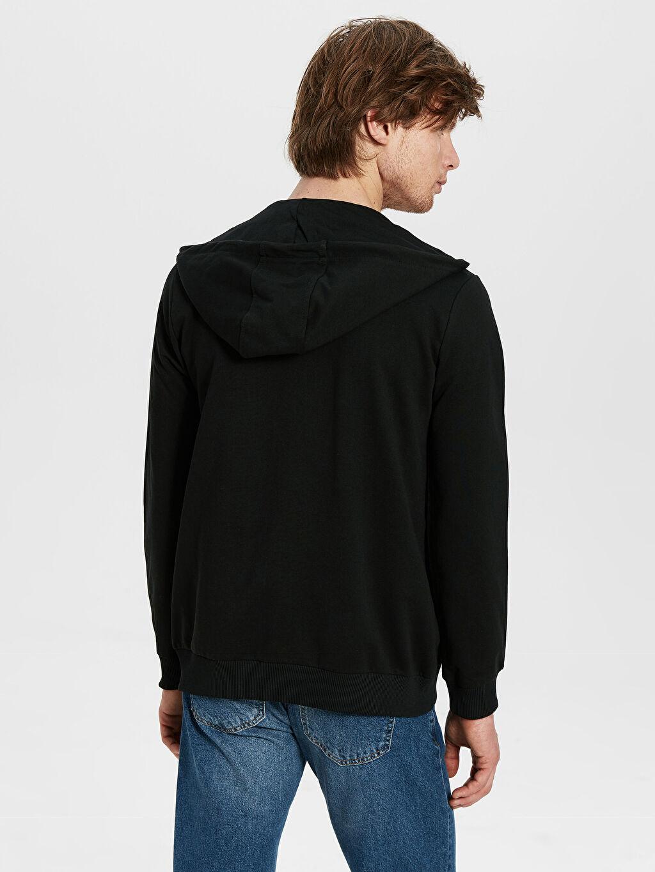 %81 Pamuk %19 Polyester Kapüşon Yaka Kalın Sweatshirt Kumaşı Sweatshirt Düz Standart Kalın Uzun Kol Kapüşonlu Basic Kalın Hırka
