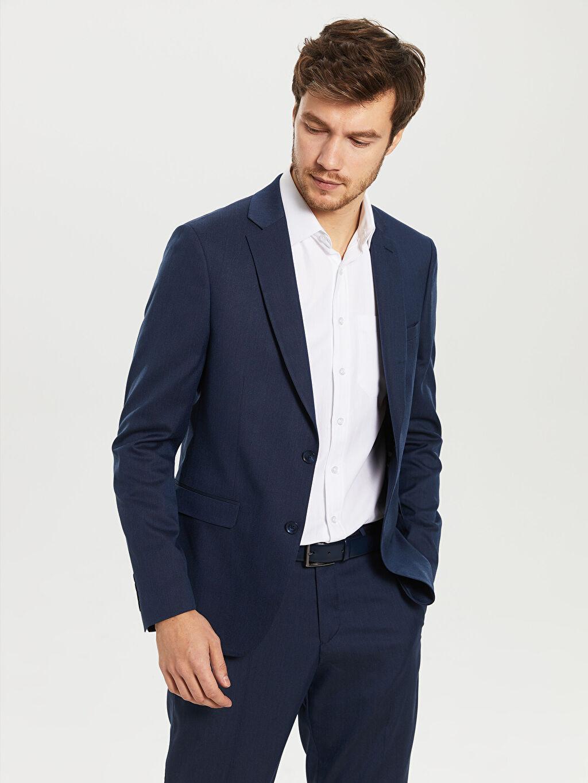 %72 Poliester %25 Vıscose %3 Elastane %100 Polyester İnce Uzun Kol Dar Düz Blazer Ceket Astarlı Dar Kalıp Takım Elbise Ceketi
