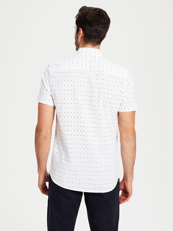 Erkek Desenli Dar Kısa Kollu Gömlek
