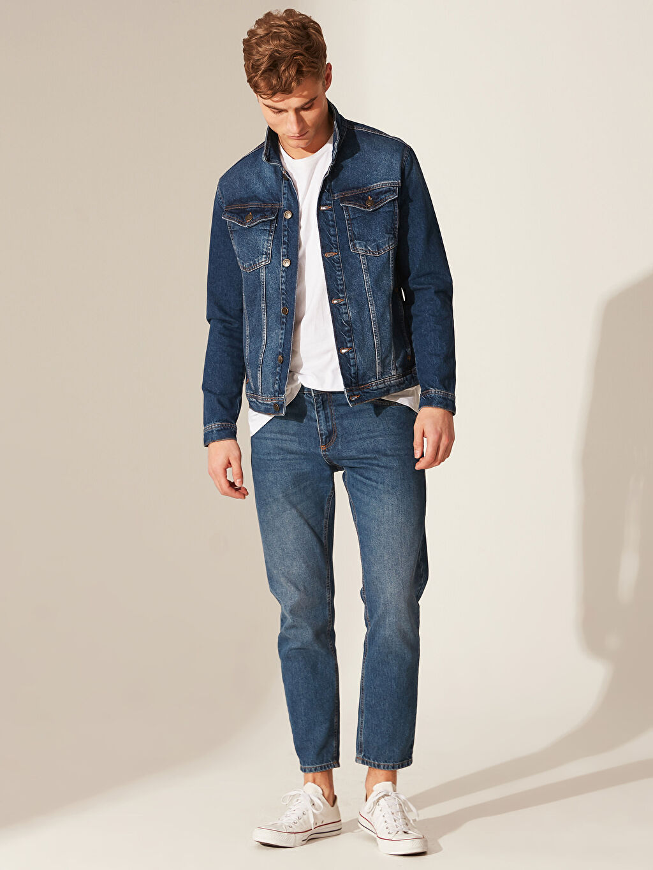 İndigo Regular Fit Jean Ceket