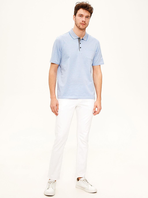 %100 Pamuk Polo Yaka Basic Merserize Tişört