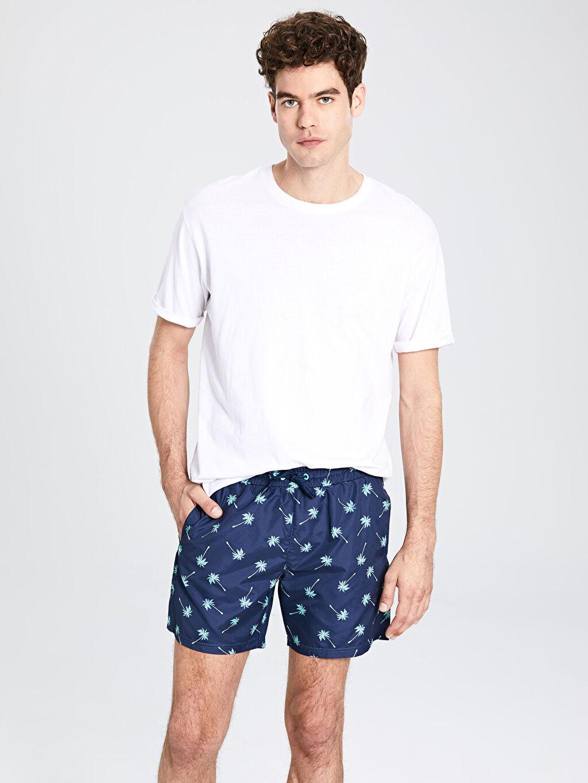 %100 Polyester %100 Polyester Yüzme Şort Kısa Kısa Boy Baskılı Deniz Şortu