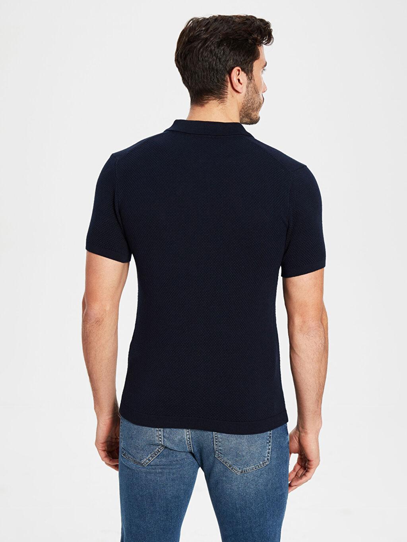 Erkek Polo Yaka Dokulu Triko Tişört