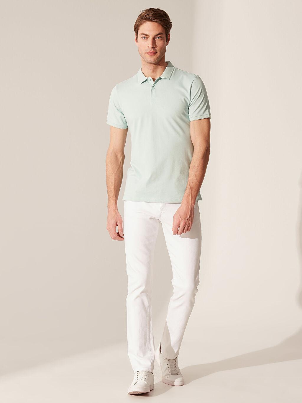 %96 Pamuk %4 Elastan Polo Yaka Basic Tişört