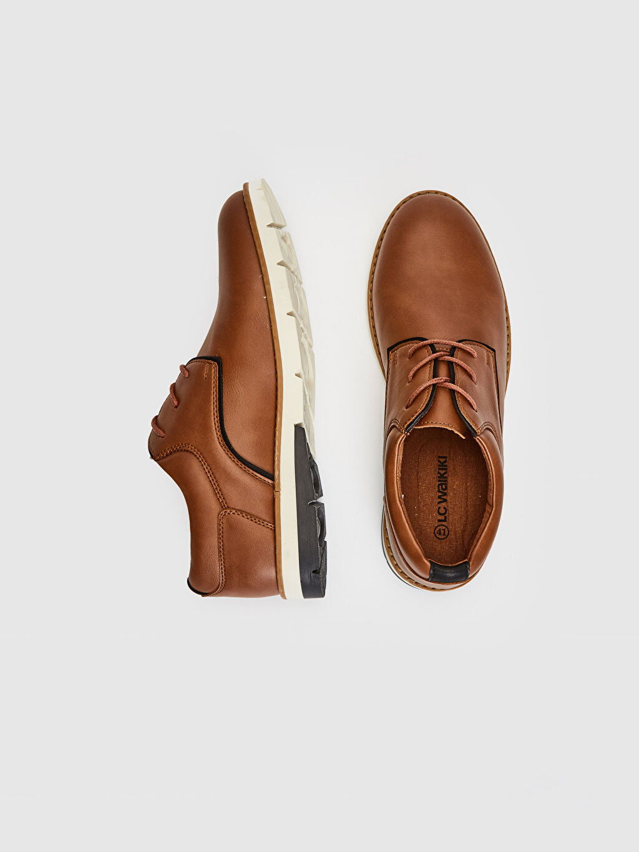 Diğer malzeme (pvc) Klasik Ayakkabı Penye Astar Standart Bağcık Casual Koku Yapmayan İç Taban Erkek Klasik Derby Ayakkabı