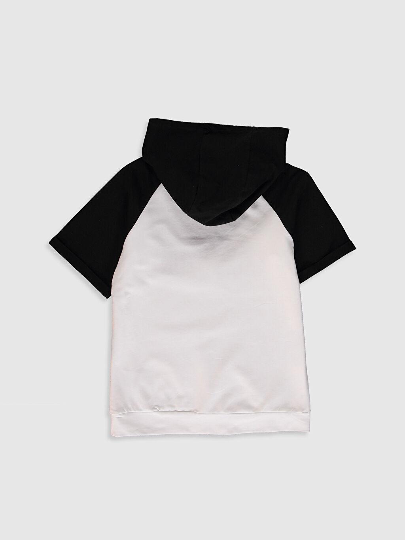 Orta Kalınlık Kısa Kol Sweatshirt Kapüşon Yaka Sweatshirt Kumaşı Yüksek Pamuk İçerir Aile Koleksiyonu Erkek Çocuk Yazı Baskılı Kapüşonlu Sweatshirt