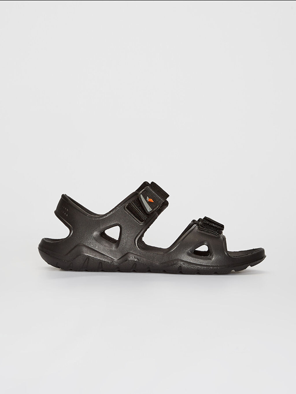 Siyah Erkek Çift Bantlı Cırt Cırtlı Sandalet 0SA379Z8 LC Waikiki