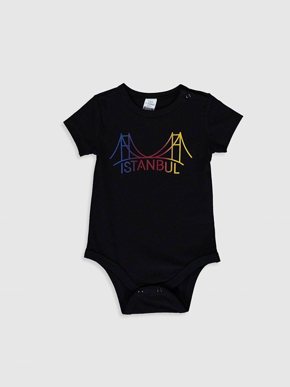 Siyah Aile koleksiyonu Yenidoğan İstanbul Temalı Pamuklu Tulum 0SC108Z1 LC Waikiki