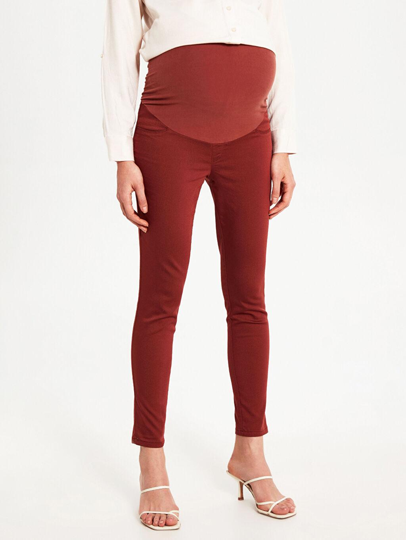 %67 Pamuk %28 Polyester %5 Elastan Skinny Hamile Pantolon