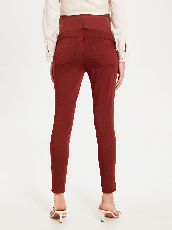 Kahverengi Skinny Hamile Pantolon