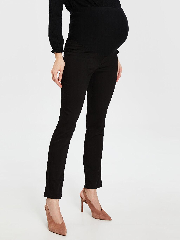 Siyah Düz Paça Hamile Pantolon