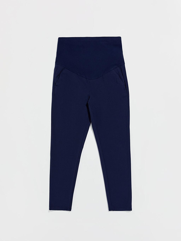 Lacivert Bilek Boy Hamile Havuç Pantolon 0S0549Z8 LC Waikiki